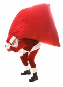 Is Santa Setting Himself Up For Back Pain?