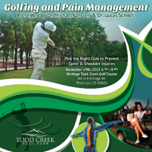 Golfing and Pain Management: FREE Medical Seminar