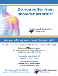 Shoulder Arthritis Seminar: Presented By Lucas Schnell
