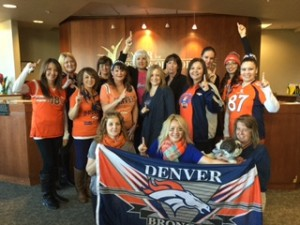 The Center for Spine and Orthopedics proudly celebrated Broncos Spirit Day today!