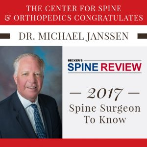 Dr. Michael Janssen Recognized as Spine Surgeon to Know by Becker's Spine Review
